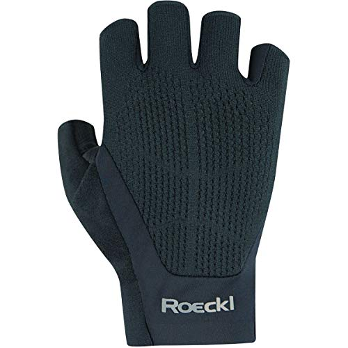 Roeckl Icon - Guantes de ciclismo (talla 8,5), color negro