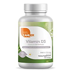 Zahler's Vitamin D3 is a crucial nutrient for overall health specifically maintaining strong muscles, bones, teeth and Immune system Millions of individuals are deficient in this life-sustaining vitamin Provides all the benefits of vitamin D without ...
