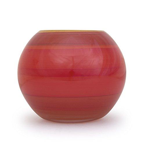 Angela neue Wiener Werkstaette Jarrón de Cristal con circonitas Forma de Bola, Cristal, Rojo, 14x 14x 14cm