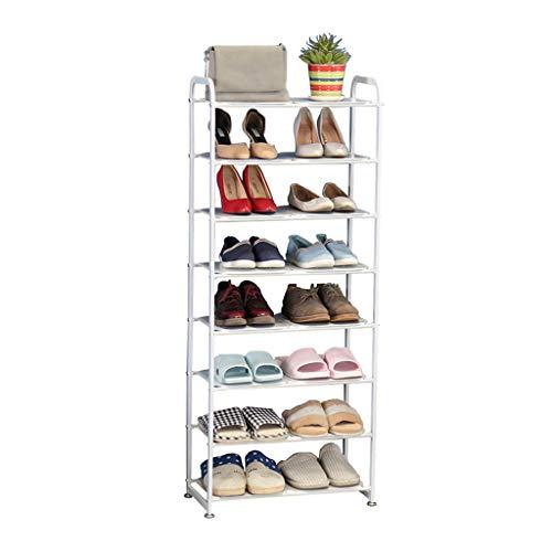Xiuyun Support à chaussures Organisateur en métal de rangement debout à 8 niveaux permettant un gain de place polyvalent (Color : White, Size : S)