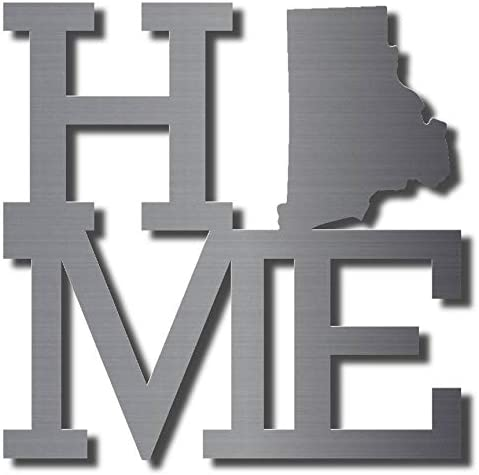 Home NEW before selling ☆ State Max 78% OFF Rhode Island Metal 11 Decor Wall Unpainted Art