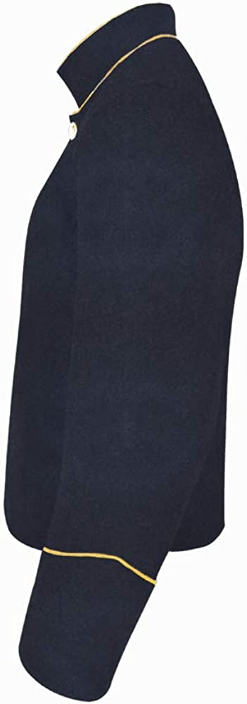 Civil War Navy Blue Shell Trim Ranking TOP14 PIPING With free Yellow Jacket