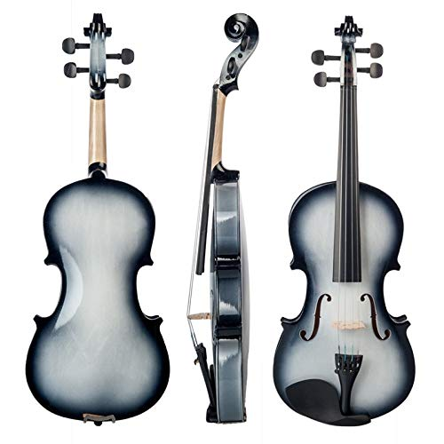 LOIKHGV Violino Elettrico Violino Elettrico 4/4 Violino Elettrico Full SizeCustodiaTastiera in Ebano-Nero Set, Nero
