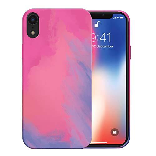Funda para iPhone XR Apple Case,Fundas iPhone XR De Líquida Silicona TPU Antigolpes Flexible Fundas,Cubierta a Prueba De Golpes con Forro De Microfibra (Fucsia, iPhone XR)