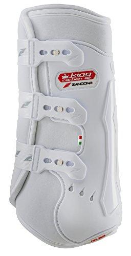Zandonà King Carbon Air Gamasche-Schutz des Pferdes hinten, Uni, King Carbon Air, weiß