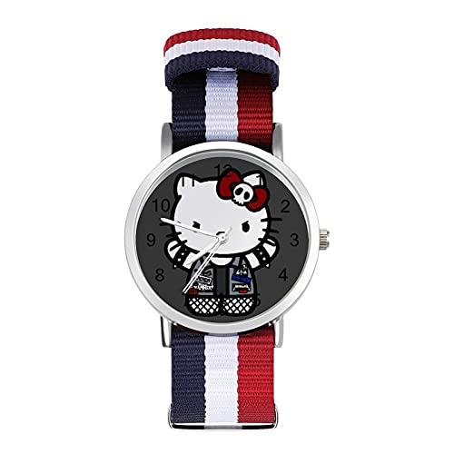 Los relojes Hello Kitty son impermeables, versátiles, informales, estudiantes, hombres, mujeres, deportes, moda y temperamento simple anime dibujos animados