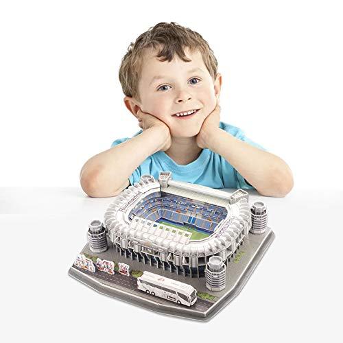 Real Madrid Estadio Santiago Bernabéu, Puzzles 3D, maqueta para Construir del Estadio Santiago Bernabéu, Juegos Familiares, Juguetes de Montaje DIY para Adultos, niños, niños y niñas
