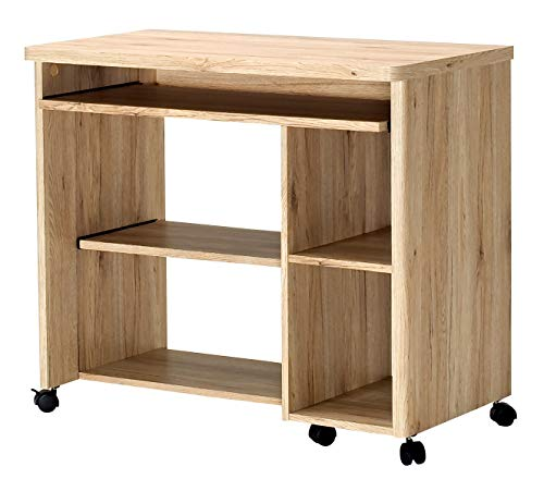 Marca Amazon - Movian Severn - Escritorio móvil, 89 x 48 x 76 cm, color roble San Remo