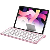 OMOTON iPad Keyboard with Sliding Stand, Ultra-Slim Bluetooth Keyboard for iPad Air 4th Generation 10.9, iPad 10.2(8th/ 7th Gen), iPad Mini, and More[Sliding Stand NOT for iPad Pro 12.9], Rose Gold