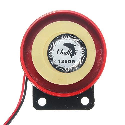 GNY Bocina eléctrica Sistema de Alarma de Seguridad Scooter de la Motocicleta 12V 125DB Sistema de Alarma de Seguridad antihecho