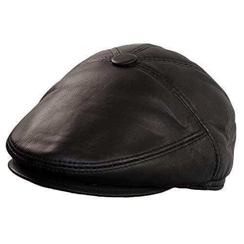 Dazoriginal Basco Scozzese Uomo Cappello da Uomo Berretto Piatto Coppola Pelle (L)
