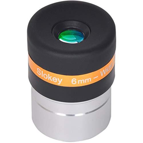 """Ocular Telescopio 6mm Pro Slokey - Lente Asférica HD de 62º - Amplio Campo de Visión y Calidad Óptica Excepcional para una Imagen Nítida y Luminosa - Súper Ligero, Compacto y Resistente (1,25"""")"""