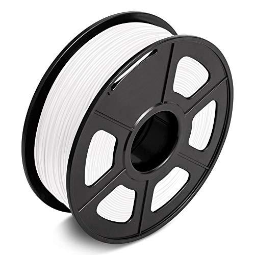 QWLHZW Tongguo. 1kg Entepad PLA 3D-Druckerfilament 1,75mm niedriger Schrumpf, umweltfreundliches harmloses Material Drucken von Artworks (Color : White)