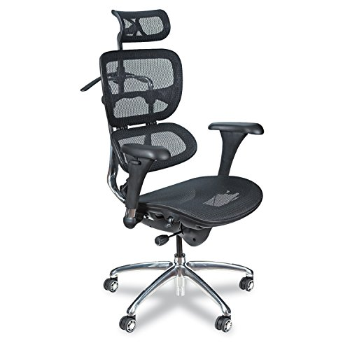 Balt Butterfly Ergonomic Executive Office Chair, Blach Mesh High Back, 48-51'H x 28'W x 24'D (34729),Black