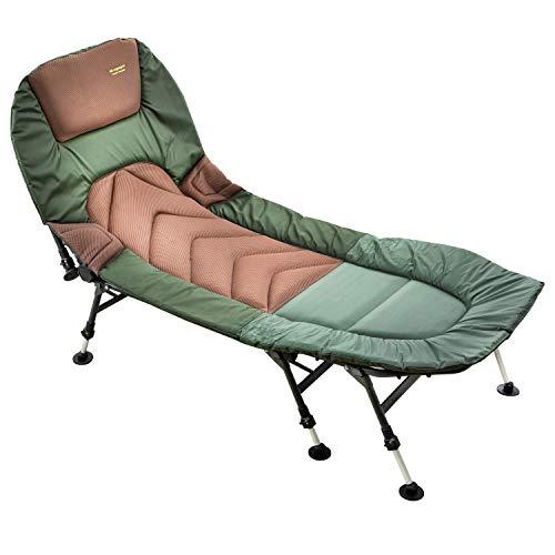MK-Angelsport Relax Angelliege 8 Bein Karpfenliege bis 150kg belastbar Bedchair Gartenliege Liege Modell 2021