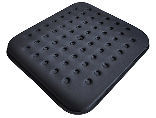 Tektrum Thick Orthopedic Cool Gel Seat Cushion with Cooling Vents for Wheelchair, Office, Home, Car–Relief for Back Pain, Sciatica, Tailbone, Prostate, Postnatal and Postoperative Pain (TD-GS1201-BLK)