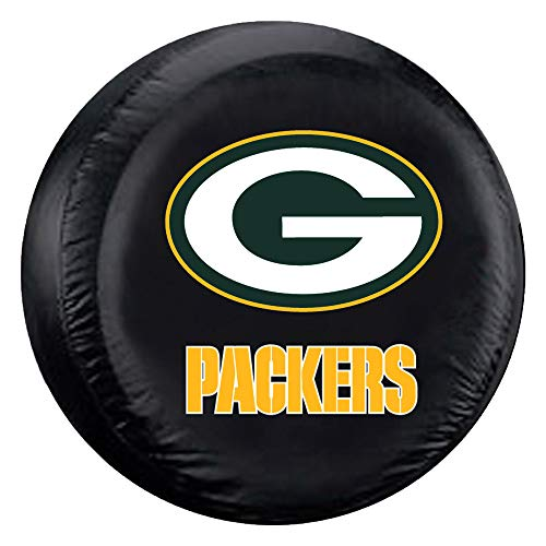 Fremont Die NFL Green Bay Packers Tire Cover, Standard Size (27-29' Diameter), Black/Team Colors