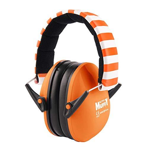 Alpine Muffy kinderoorkappen - Gehoorbescherming voor kinderen vanaf 2 jaar - Comfortabele geluidsbescherming voorkomt gehoorbeschadiging - Stevig en gemakkelijk op te bergen - Ook voor concentratie - Oranje