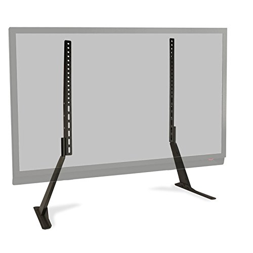 Atlantic Table Top TV Stand - Universal Adjustable Heavy Duty Table Top TV Stand, Adjust Height, Base Mount for Flat Screen up to 70' and 132 lbs, PN 63607232 in Black