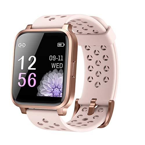 Voigoo Smartwatch,Reloj Inteligente Mujer Hombres niños con IP68 Impermeable Pulsómetro Monitoreo del sueño con Manual en español para iOS Android Samsung Huawei xiaomi