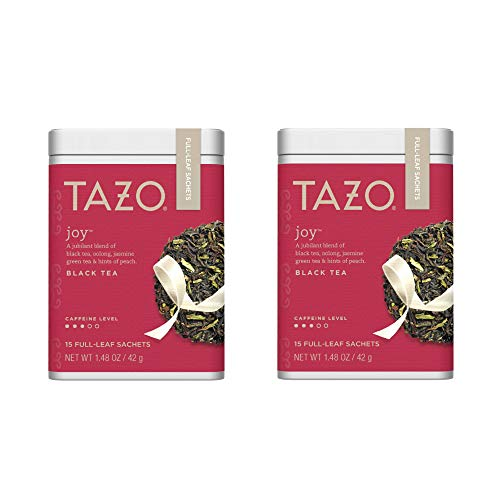 Tazo Joy Full-Leaf Sachets Black Tea 15 count (Pack of 2)