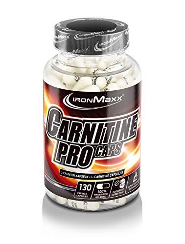 IronMaxx Carnitine Pro Caps - 130 Kapseln - Kapseln mit hochdosiertem L-Carnitin Tartrat - Für Sportler, Athleten, Bodybuilder - Designed in Germany