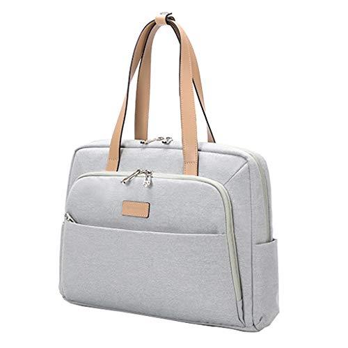 Borse per PC Portatili Laptop Bag Signore Grande capacità della Borsa della Spalla della Tela di Canapa Singola Business Briefcase Adatto a 13 pollici-15.6 inch Laptop Custodia per Laptop