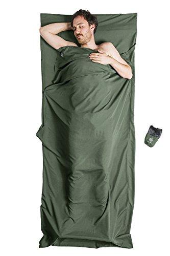 Bahidora Hüttenschlafsack aus Mikrofaser, Schlafsack Inlett, Reiseschlafsack. Ideal für Hostels, Berghütten und Jugendherbergen (olivgrün)
