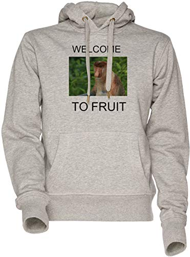 Welcome to Fruit Unisexe Sweat À Capuche Gris