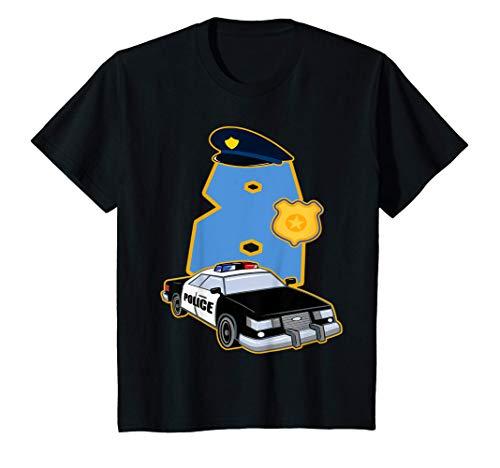 Nios 8 Cumpleaos Polica 8 Aos Disfraz De Coche De Polica Camiseta
