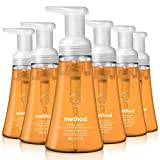 Method Foaming Hand Soap, Orange Ginger, 10 oz, 6 pack, Packaging May Vary