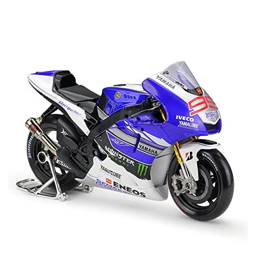 Boutique 1:10 para Yam┐AHA 2013 Equipo De Carreras Fábrica Simulación Modelo Motocicleta Decoración Colección Regalo Coche Juguete