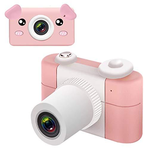 Pantalla De 2.0 Pulgadas Cámara Digital para Niños Toma Fotos Regularmente Lente De 26MP HD Video Cámara Infantil con Funda Protectora De Dibujos Animados,B,+32Gcard
