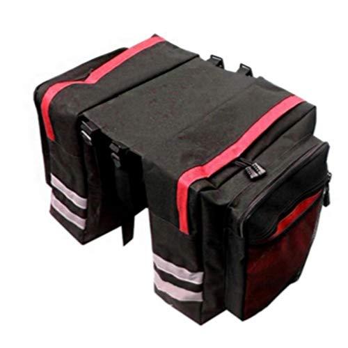 DSFSAEG Alforja bolsa para bicicleta con ganchos ajustables para asiento trasero accesorios impermeable para bicicleta