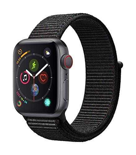 Apple Watch Series 4 (GPS + Cellular) cassa 40 mm in alluminio grigio siderale e Sport Loop nero