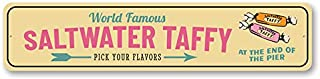 World Famous Saltwater Taffy, Beach Arrow Sign, Seaside Store Sign, Beach Candy - 4