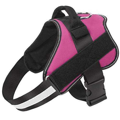 Bolux Dog Harness, No-Pull Reflective Dog Vest, Breathable Adjustable Pet Harness with Handle for Outdoor Walking - No More Pulling, Tugging or Choking ( Rose red, XS )