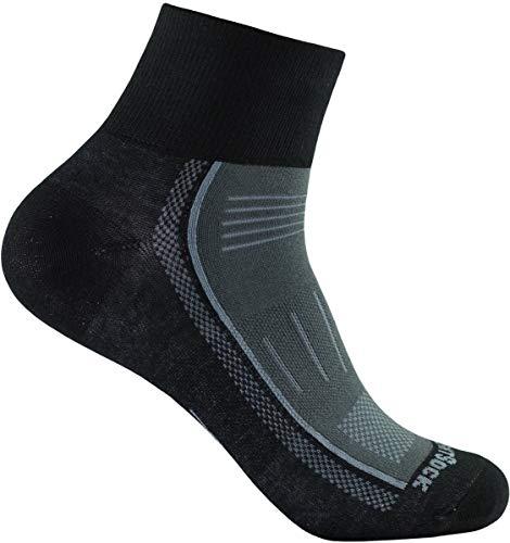 Wrightsock Endurance Profi Sportsocke quarter -anti-blasen-system- in schwarz-ash - Socken Größe L