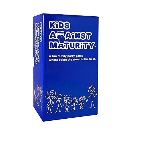 Niños contra Madurez Card Game - para los Adolescentes Diversión hilarante Juego de Mesa Monopoly Familia Partido de Varios Jugadores para el Adulto y el Juego de Mesa Fiesta Adolescente Estrategia,A