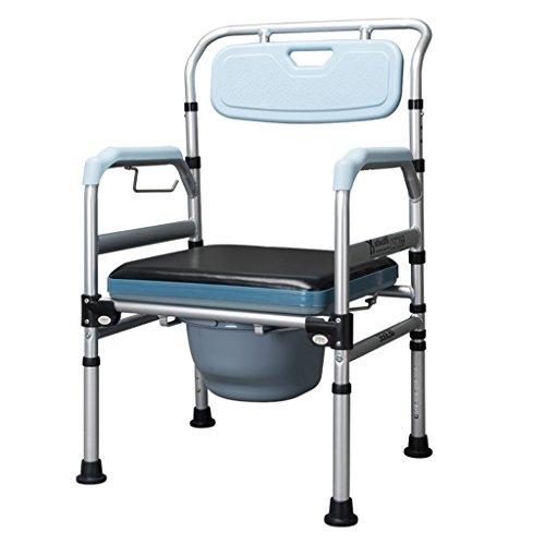 MyAou-commode Siège de Toilette en Alliage d'aluminium Toilettes Pliant Chaise de Douche Chaise de Toilette