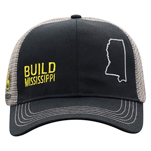 John Deere Build State Pride Cap-Black and Gray-Mississippi