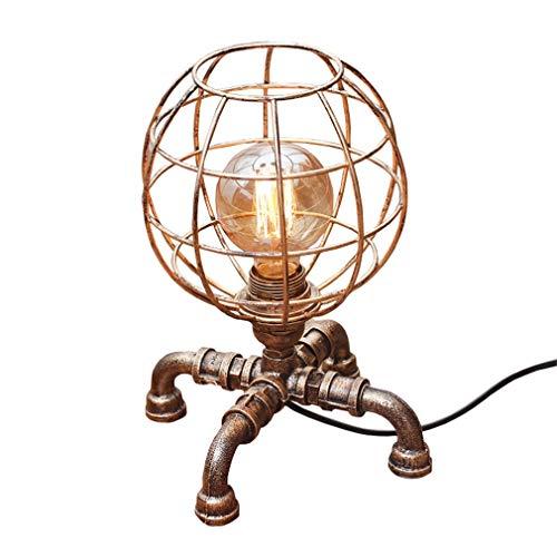 Tischlampe,Tischleuchte,Nachttischlampe,Schreibtischlampen,Kreative Retro Nostalgische LOFT Stil Kupferrohr Kleine Nachtlicht (Farbe : Dimmschalter)