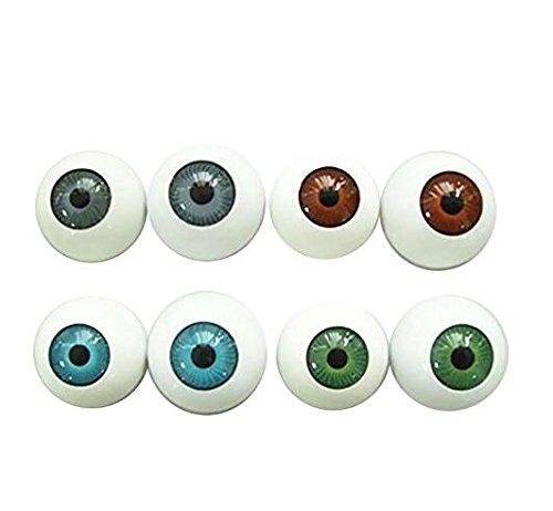 8 globos oculares redondos semicirculares en forma de máscara cráneo - Prop de Halloween