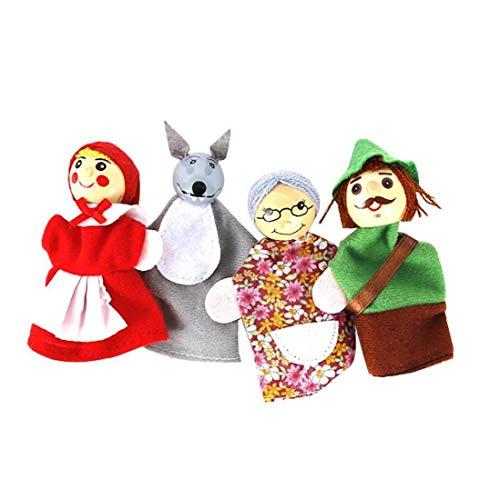 LAANCOO Jeu de marionnettes à la Main Le Petit Chaperon Rouge Jouet marionnette poupée Jouet marionnettes raconte des Histoires pour Les Tout-Petits Cadeaux