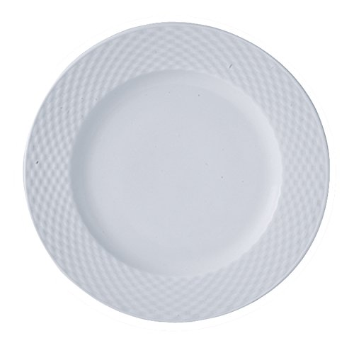 LOT DE 4 ASSIETTE PLATE 25,5CM EN PORCELAINE BLANCHE POLO