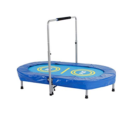 Folding Trampoline Outdoor Indoor Toys with Handle for Kids Childrens,Safety and Durable Toddler Trampoline,Best for Gift (Color : B)