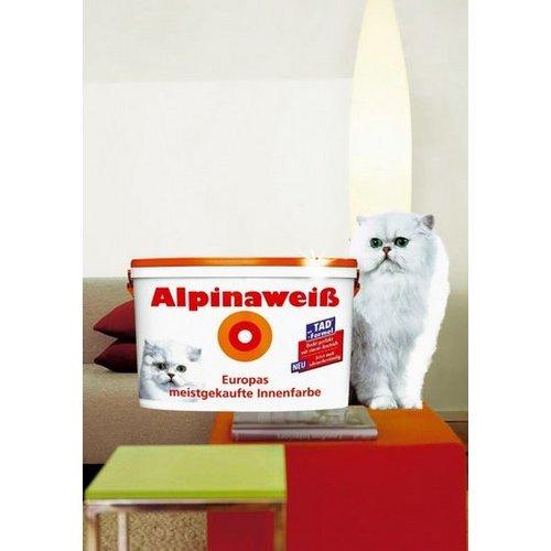 Alpina Wandfarbe 867174 Alpinaweiß matt 12 Liter, reicht für 90 m²