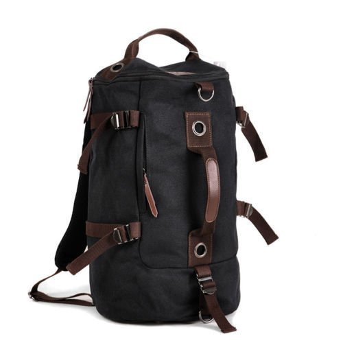 lazutom Grande Capacité Unisexe extérieur Voyage sac à dos sac à dos sac bandoulière en toile extérieure Voyage sac fourre-tout Duffle Sac de gym