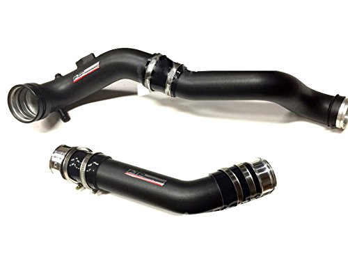 FTP Turbo Charge Pipe + Boost Pipe for BMW X1 N20 E84 Black Aluminum