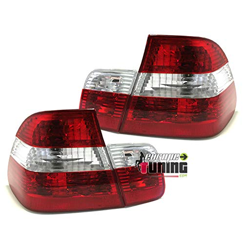 europetuning - 10053-2 FEUX ARRIERES LOOK PHASE 2 POUR SERIE 3 E46 BERLINE 1998-2001 PHASE 1